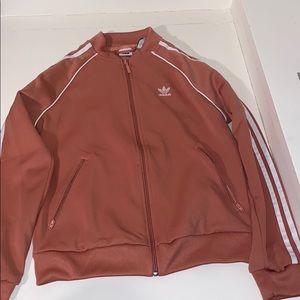 Pink addidas zip up jacket NEVER WORN